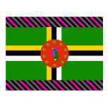 Dominica Flag Post Cards