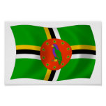 Dominica Flag Poster Print