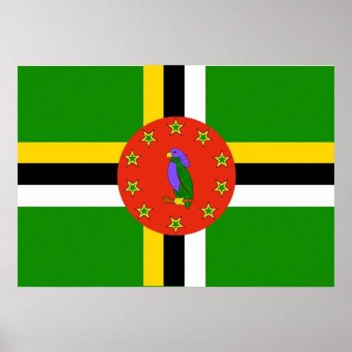 Dominica Flag Print