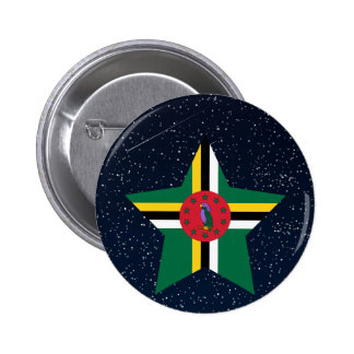 Dominica Flag Star In Space 2 Inch Round Button