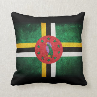 Dominica Flag Throw Pillow