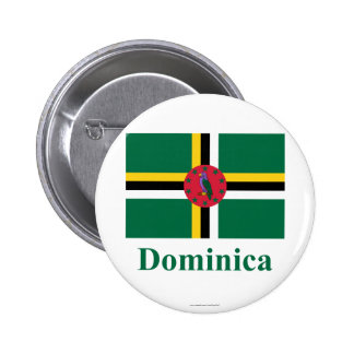 Dominica Flag with Name Button