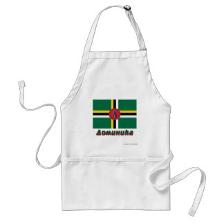 Dominica Flag with name in Russian Apron