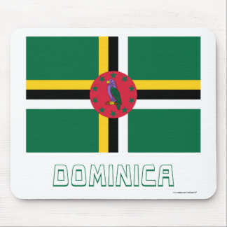 Dominica Flag with Name Mouse Pad