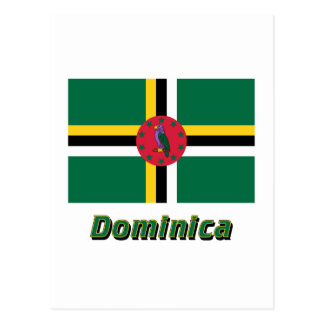 Dominica Flag with Name Postcard