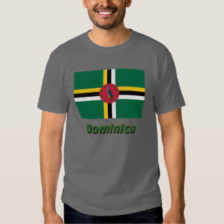 Dominica Flag with Name Shirt