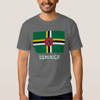 Dominica Flag with Name T-shirt