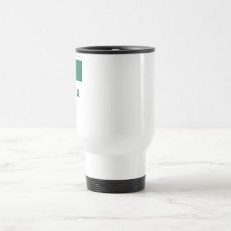 Dominica Flag with Name Travel Mug
