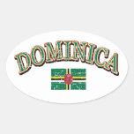 Dominica football design stickers