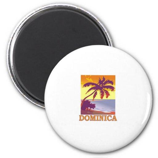 Dominica Imán Redondo 5 Cm