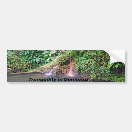 Dominica Island Car Bumper Sticker