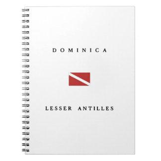 Dominica Lesser Antilles Scuba Dive Flag Note Books