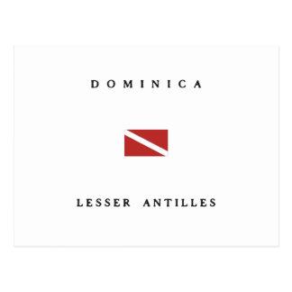 Dominica Lesser Antilles Scuba Dive Flag Postcard