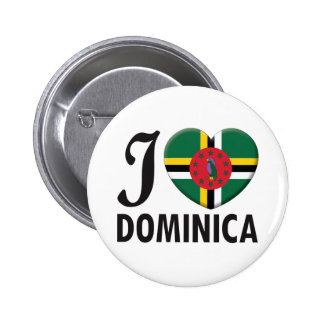 Dominica Love Pinback Buttons