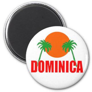 Dominica 2 Inch Round Magnet