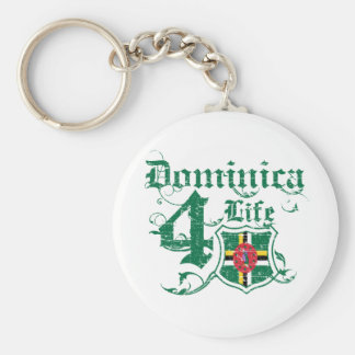 Dominica para la vida llavero redondo tipo pin