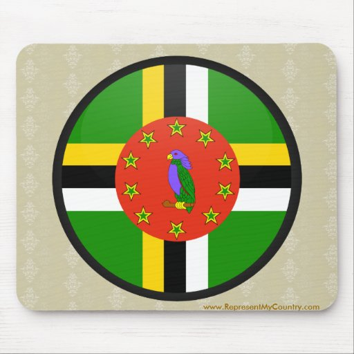Dominica quality Flag Circle Mouse Pad