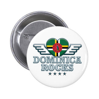 Dominica Rocks v2 Pinback Buttons