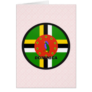 Dominica Roundel quality Flag Card
