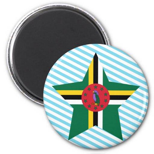 Dominica Star 2 Inch Round Magnet