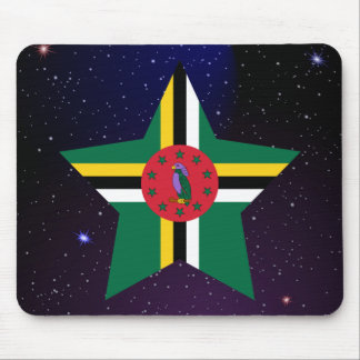 Dominica Star Design Flag Mouse Pad