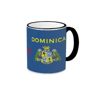 Dominica - taza clásica de la bandera y del escudo