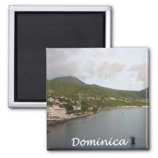 Dominica View 2 Inch Square Magnet