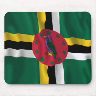 Dominica Waving Flag Mouse Pad