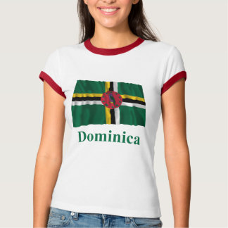 Dominica Waving Flag with Name Tee Shirt