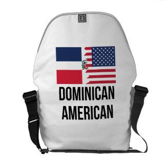 Dominican American Flag Messenger Bag