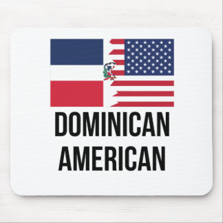 Dominican American Flag Mouse Pad