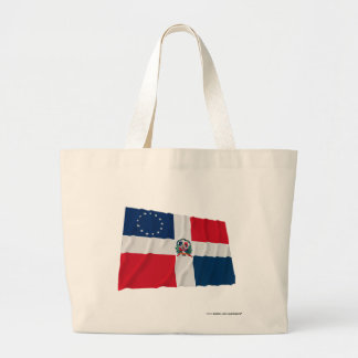 Dominican-American Waving Flag Canvas Bag