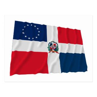 Dominican-American Waving Flag Postcard
