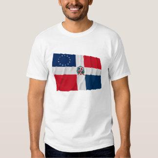 Dominican-American Waving Flag Tee Shirt