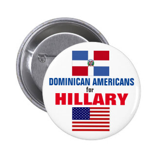 Dominican Americans for Hillary 2016 Button