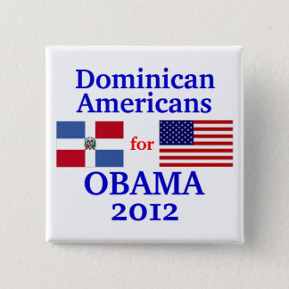 Dominican Americans for Obama Button