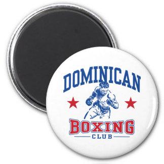 Dominican Boxing 2 Inch Round Magnet