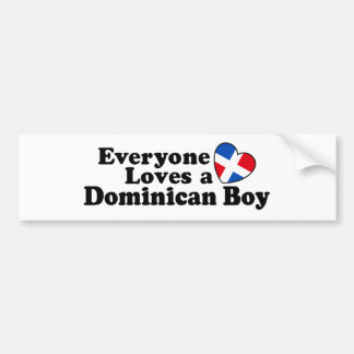 Dominican Boy Bumper Sticker