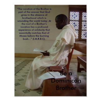 Dominican Brother Vocation Poster