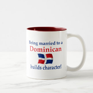 Dominican Builds Character Two-Tone Coffee Mug