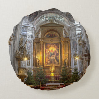 Dominican Church Vienna Austria Round Pillow