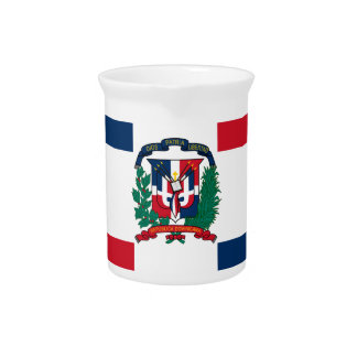 Dominican flag all over design beverage pitcher