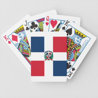 Dominican flag all over design bicycle playing cards