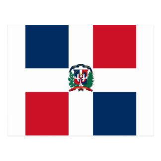 Dominican flag all over design postcard
