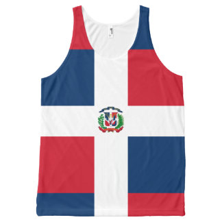 Dominican flag All-Over-Print tank top