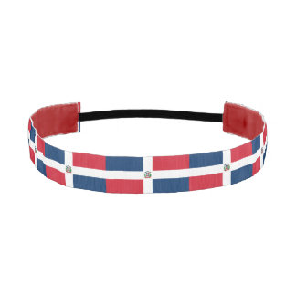 Dominican flag athletic headband