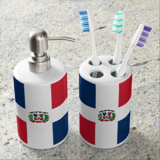 Dominican flag Bath Set
