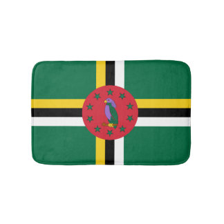 Dominican flag bathroom mat