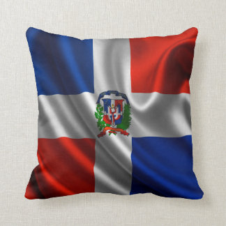Dominican Flag Fabric Throw Pillow