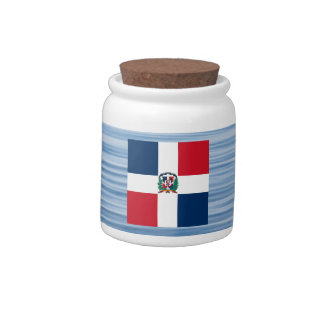 Dominican Flag Floating on water Candy Jar